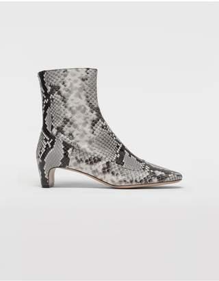 Maison Margiela Python-Effect Leather Ankle Boots