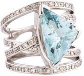Ring Platinum Aquamarine & Diamond