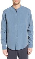 Vince Men's Trim Fit Frayed Collar Chambray Sport Shirt