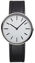 Uniform Wares M37psi01corblk1818r01 M37 Leather Strap Watch, Black/grey