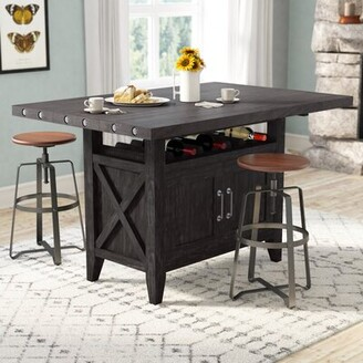 Laurèl Langsa Counter Height Extendable Dining Table Foundry Modern Farmhouse
