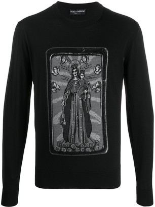 Dolce & Gabbana Mary and Baby Jesus knit jumper