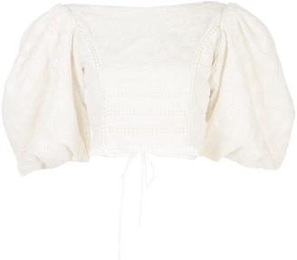 Johanna Ortiz Hazel Reflection embroidered blouse
