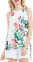 Vince Camuto Tropical High/Low Tank Top