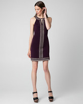 Le Château Embroidered Knit Halter Tunic Dress
