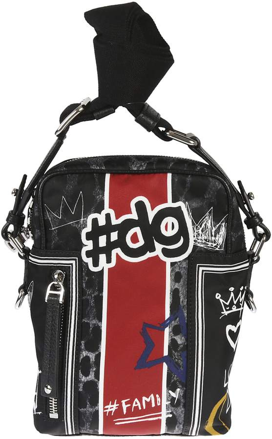Dolce & Gabbana Printed Graffiti Shoulder Bag