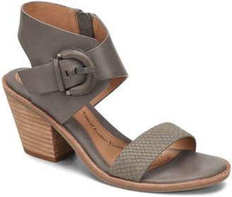 Sofft Snake Print Leather Sandals - Menaka