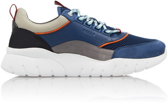 Bally Birky-T Mesh, Leather And Rubber Sneakers