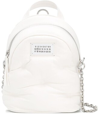 Maison Margiela Quilted-Effect Logo-Patch Mini Backpack