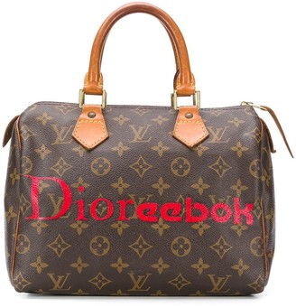 Louis Vuitton pre-owned customised Speedy bag
