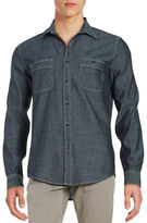 Dockers Premium Edition Chambray Fitted Long Sleeve Shirt