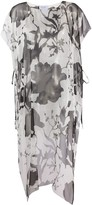 Salvatore Ferragamo printed long-line blouse