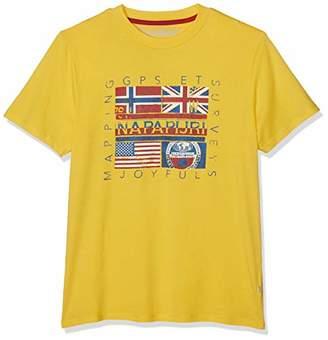 Napapijri Men's Sachu T-Shirt, (Freesia Yellow Ya7)