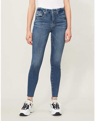 Good American Good Legs Raw Edge high-rise jeans