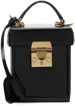 Mark Cross Grace Cube patent leather box bag