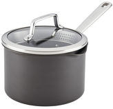 Anolon Authority 3QT. Hard-Anodized Covered Straining Saucepan