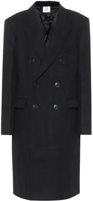 Vetements Wool twill coat