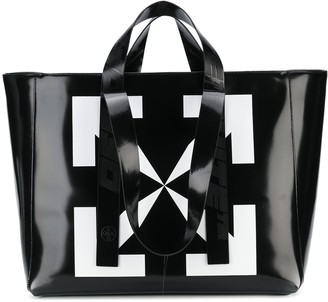 Off-White Off White arrow print tote bag
