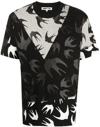 McQ Swallow swallow-print panelled T-shirt