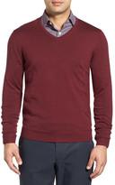 John W. Nordstrom Merino Wool V-Neck Sweater (Big)