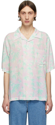 Loewe Pink and Green Daisy Bowling Shirt