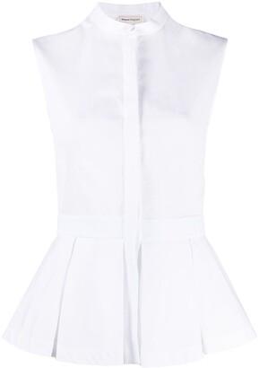 Alexander McQueen Sleeveless Cotton Shirt
