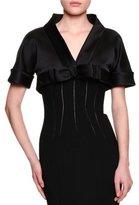Dolce & Gabbana Short-Sleeve Shrug W/Bow, Black