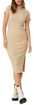 Women's Essential Zara Split Short Sleeve Midi Dress