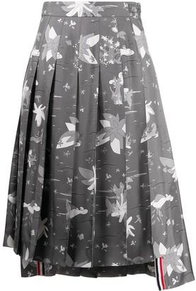 Thom Browne Hawaiian-print silk skirt