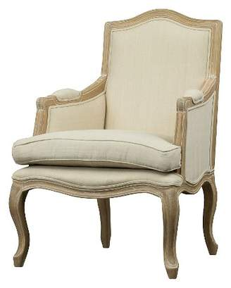 Baxton Studio Upholstered Chair Buff Beige