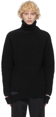 System Black Wool Turtleneck