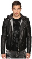 Philipp Plein Leather Hey You Jacket Men's Coat