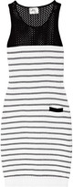 Milly Mia striped ribbed knitted dress
