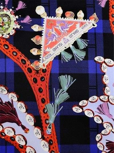 Mary Katrantzou Paisley Printed Cotton Twill Coat