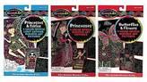 Melissa & Doug Scratch Art Color-Reveal Bundle - Princesses Fairy, Princesses...