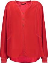 Isabel Marant Mendel embellished silk-crepe blouse