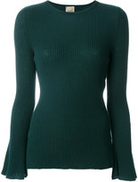 Nude slim fit ribbed sweater