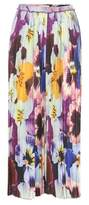 Christopher Kane Pleated printed silk trousers