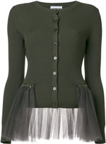 Moschino tulle cardigan - women - Polyamide/Virgin Wool - 42