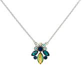 Monet Rhodium Plated Glass Crystal Navette Pendant, Silver