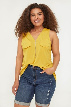 Ardene Plus Size Zip Collar Blouse