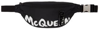 Alexander McQueen Black Graffiti Harness Belt Bag