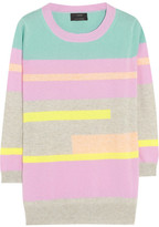 Abstract striped cashmere sweater
