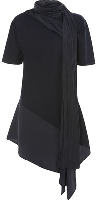 J.W.Anderson scarf-neck asymmetric T-shirt
