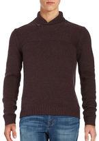 Calvin Klein Cotton Shawl-Collar Sweater