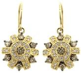 Effy Jewelry Effy Espresso 14K Yellow Gold Cognac and White Diamond Earrings, 1.16 TCW