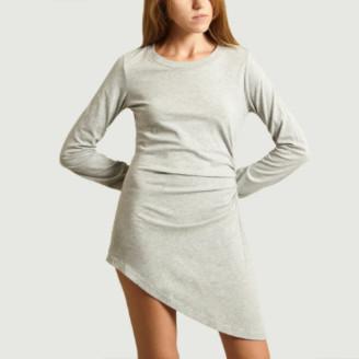 Maison Margiela Grey Jersey Asymmetric Dress - s   cotton   grey - Grey/Grey