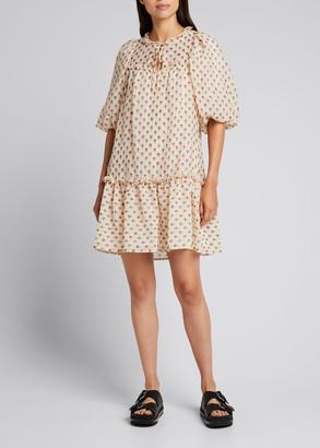 Sea Alexis Puff-Sleeve Tunic Dress
