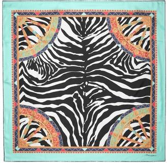 Dolce & Gabbana Zebra-print silk scarf