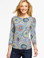 Talbots Intricate Paisley Sweater